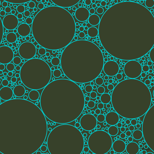 bubbles, circles, sponge, big, medium, small, 2 pixel line width, Dark Turquoise and Seaweed circles bubbles sponge soap seamless tileable