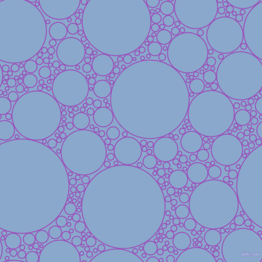 bubbles, circles, sponge, big, medium, small, 2 pixel line width, Deep Lilac and Polo Blue circles bubbles sponge soap seamless tileable