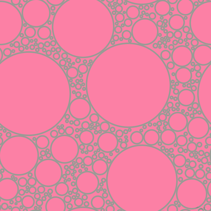bubbles, circles, sponge, big, medium, small, 5 pixel line width, Delta and Tickle Me Pink circles bubbles sponge soap seamless tileable