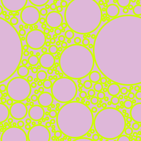 bubbles, circles, sponge, big, medium, small, 5 pixel line width, Electric Lime and French Lilac circles bubbles sponge soap seamless tileable