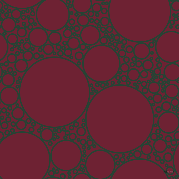 bubbles, circles, sponge, big, medium, small, 5 pixel line width, Everglade and Claret circles bubbles sponge soap seamless tileable