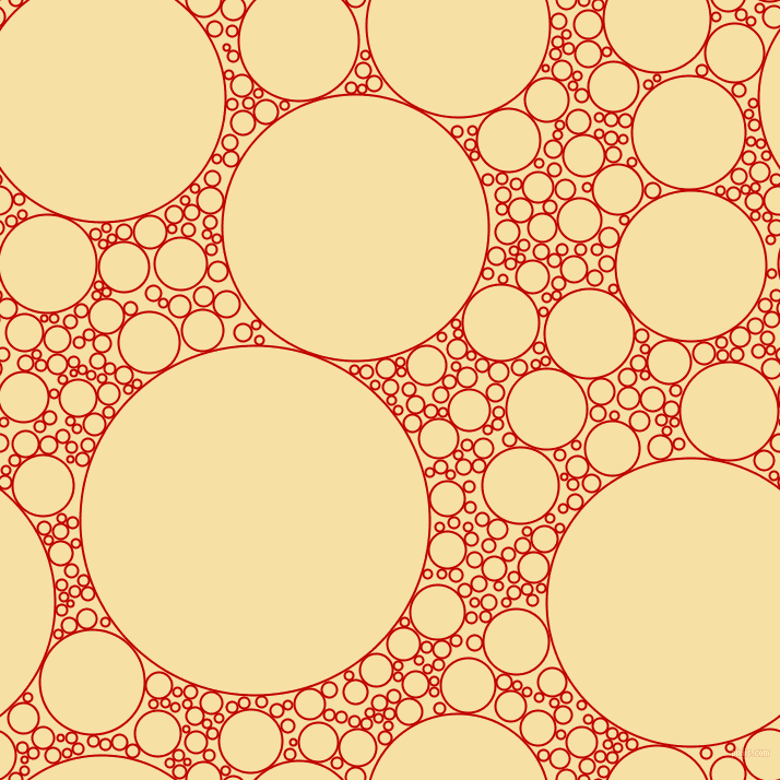 bubbles, circles, sponge, big, medium, small, 2 pixel line width, Free Speech Red and Buttermilk circles bubbles sponge soap seamless tileable