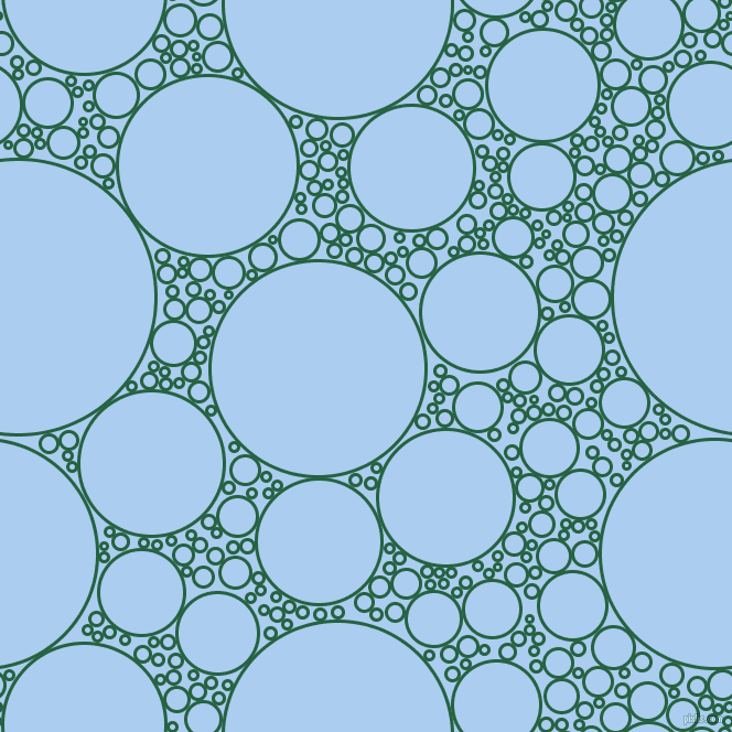 bubbles, circles, sponge, big, medium, small, 3 pixel line width, Green Pea and Pale Cornflower Blue circles bubbles sponge soap seamless tileable