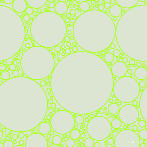 bubbles, circles, sponge, big, medium, small, 3 pixel line width, Green Yellow and Frostee circles bubbles sponge soap seamless tileable