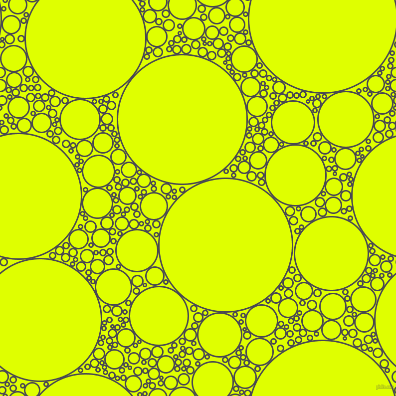 bubbles, circles, sponge, big, medium, small, 3 pixel line width, Gun Powder and Chartreuse Yellow circles bubbles sponge soap seamless tileable