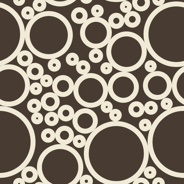 bubbles, circles, sponge, big, medium, small, 17 pixel line width, Half Pearl Lusta and Taupe circles bubbles sponge soap seamless tileable