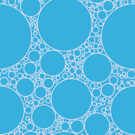 bubbles, circles, sponge, big, medium, small, 3 pixel line width, Hawkes Blue and Summer Sky circles bubbles sponge soap seamless tileable