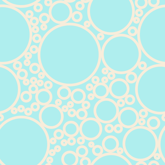bubbles, circles, sponge, big, medium, small, 9 pixel line width, Island Spice and Pale Turquoise circles bubbles sponge soap seamless tileable