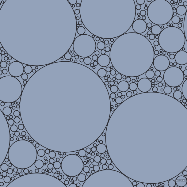 bubbles, circles, sponge, big, medium, small, 2 pixel line width, Jaguar and Rock Blue circles bubbles sponge soap seamless tileable