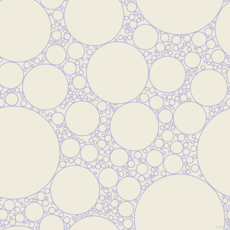 bubbles, circles, sponge, big, medium, small, 3 pixel line width, Lavender Grey and Rice Cake circles bubbles sponge soap seamless tileable