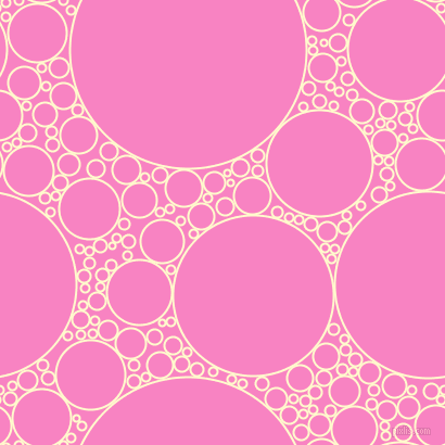 bubbles, circles, sponge, big, medium, small, 2 pixel line width, Lemon Chiffon and Tea Rose circles bubbles sponge soap seamless tileable