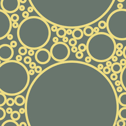 bubbles, circles, sponge, big, medium, small, 9 pixel line width, Light Goldenrod and Sirocco circles bubbles sponge soap seamless tileable