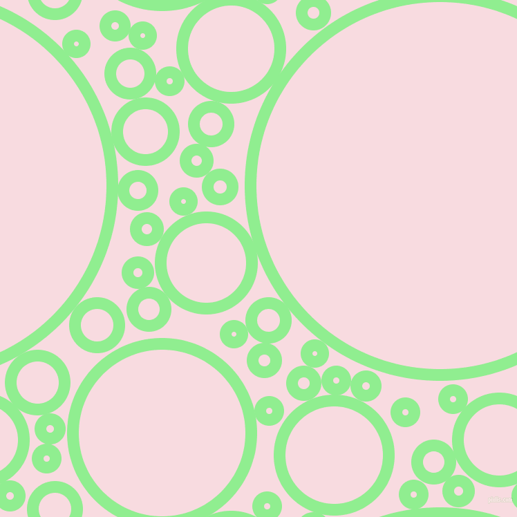 bubbles, circles, sponge, big, medium, small, 17 pixel line width, Light Green and Carousel Pink circles bubbles sponge soap seamless tileable
