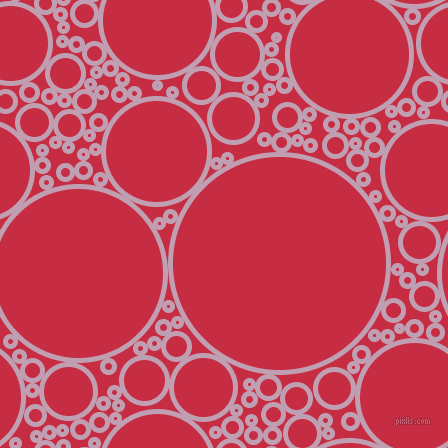 bubbles, circles, sponge, big, medium, small, 5 pixel line width, Lily and Brick Red circles bubbles sponge soap seamless tileable
