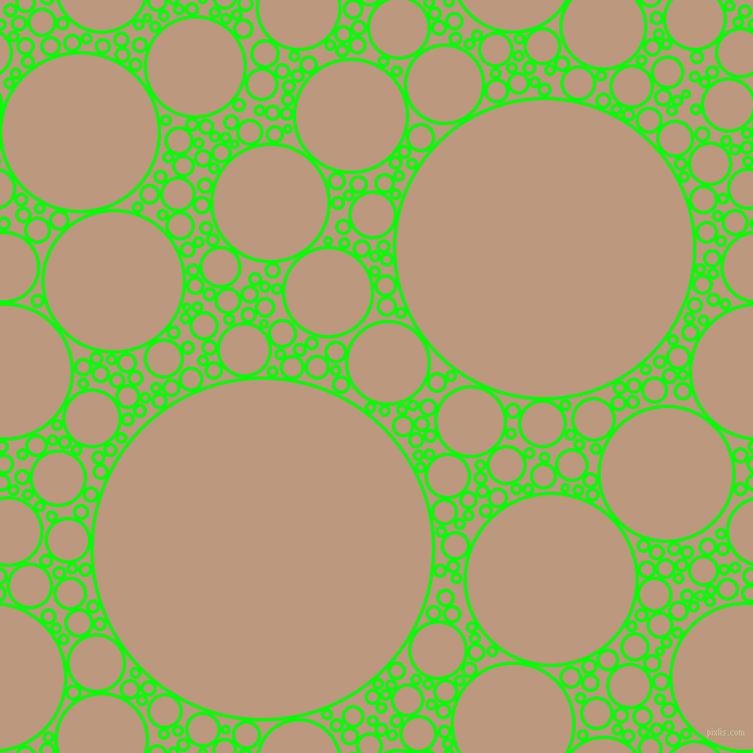 bubbles, circles, sponge, big, medium, small, 3 pixel line width, Lime and Pale Taupe circles bubbles sponge soap seamless tileable
