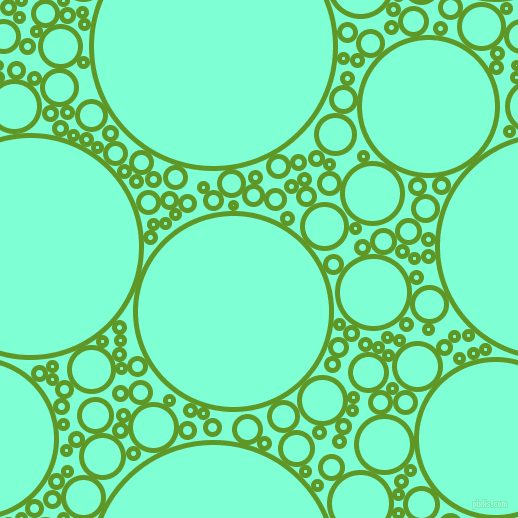 bubbles, circles, sponge, big, medium, small, 5 pixel line width, Limeade and Aquamarine circles bubbles sponge soap seamless tileable
