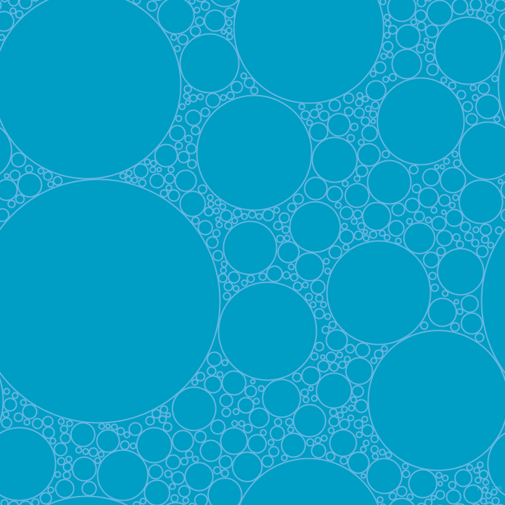 bubbles, circles, sponge, big, medium, small, 2 pixel line width, Malibu and Pacific Blue circles bubbles sponge soap seamless tileable