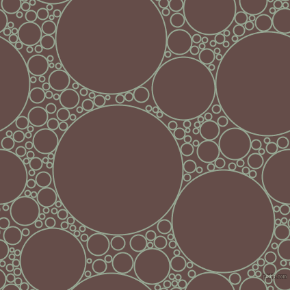 bubbles, circles, sponge, big, medium, small, 2 pixel line width, Mantle and Congo Brown circles bubbles sponge soap seamless tileable