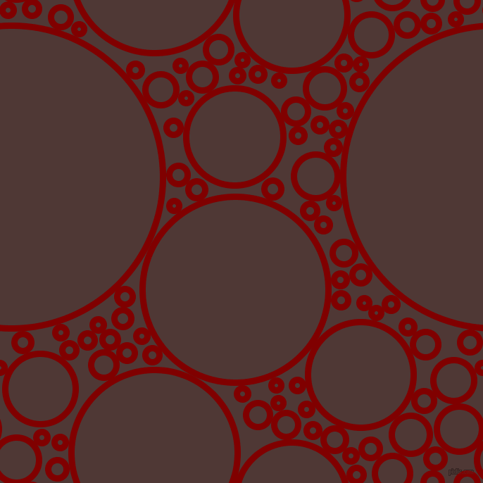bubbles, circles, sponge, big, medium, small, 9 pixel line width, Maroon and Cocoa Bean circles bubbles sponge soap seamless tileable