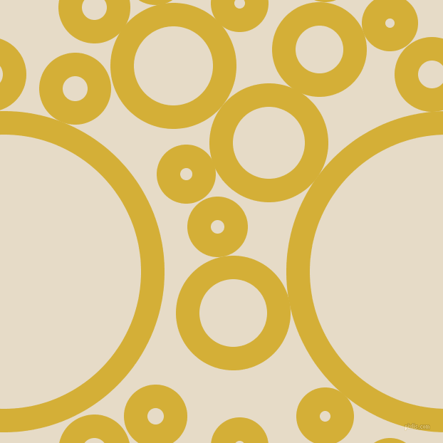 bubbles, circles, sponge, big, medium, small, 33 pixel line width, Metallic Gold and Half Spanish White circles bubbles sponge soap seamless tileable