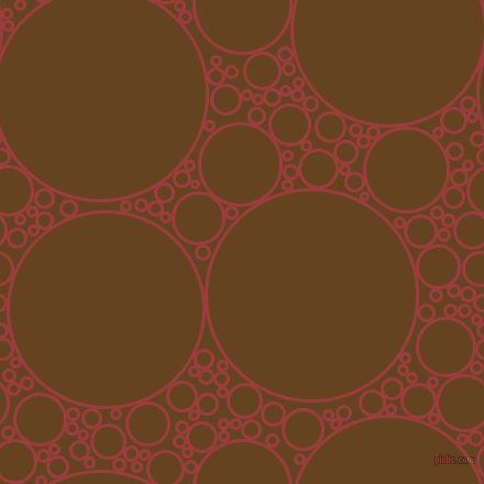 bubbles, circles, sponge, big, medium, small, 3 pixel line width, Mexican Red and Dark Brown circles bubbles sponge soap seamless tileable