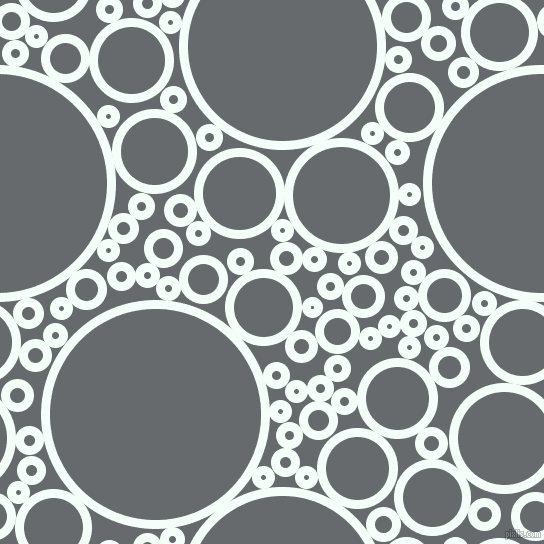 bubbles, circles, sponge, big, medium, small, 9 pixel line width, Mint Cream and Mid Grey circles bubbles sponge soap seamless tileable