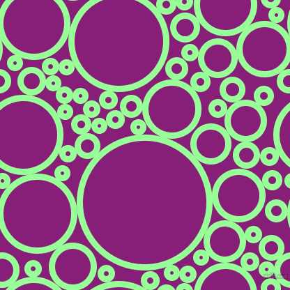 bubbles, circles, sponge, big, medium, small, 9 pixel line width, Mint Green and Dark Purple circles bubbles sponge soap seamless tileable