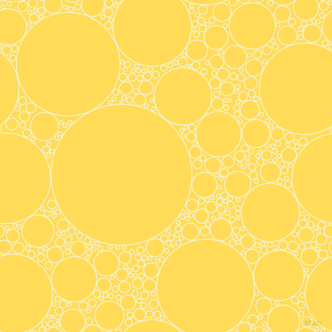 bubbles, circles, sponge, big, medium, small, 2 pixel line width, Moon Glow and Mustard circles bubbles sponge soap seamless tileable