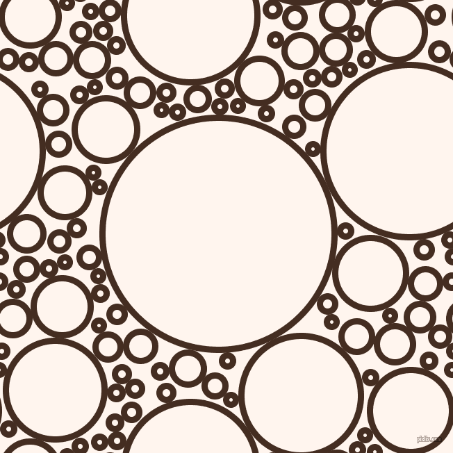 bubbles, circles, sponge, big, medium, small, 9 pixel line width, Morocco Brown and Seashell circles bubbles sponge soap seamless tileable