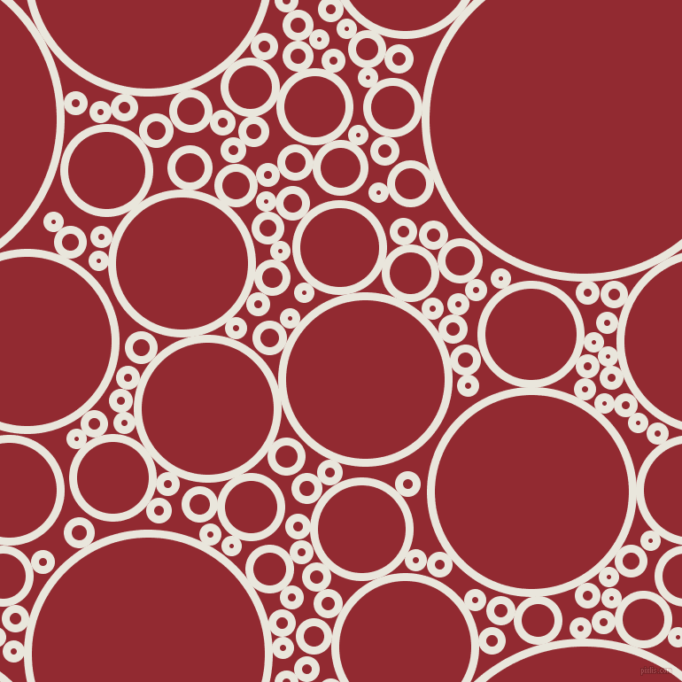 bubbles, circles, sponge, big, medium, small, 9 pixel line width, Narvik and Bright Red circles bubbles sponge soap seamless tileable