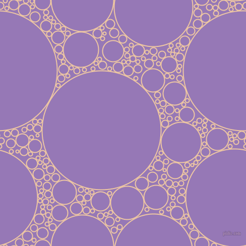bubbles, circles, sponge, big, medium, small, 2 pixel line width, Negroni and Purple Mountain
