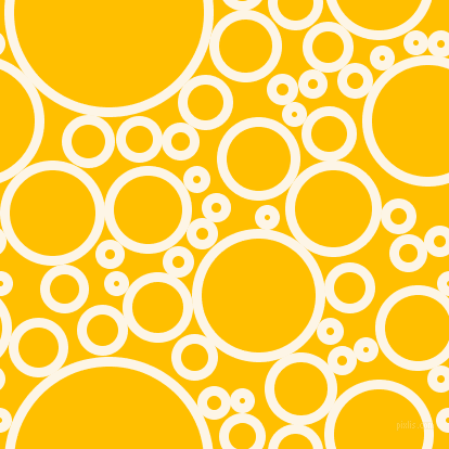 bubbles, circles, sponge, big, medium, small, 9 pixel line width, Old Lace and Amber circles bubbles sponge soap seamless tileable