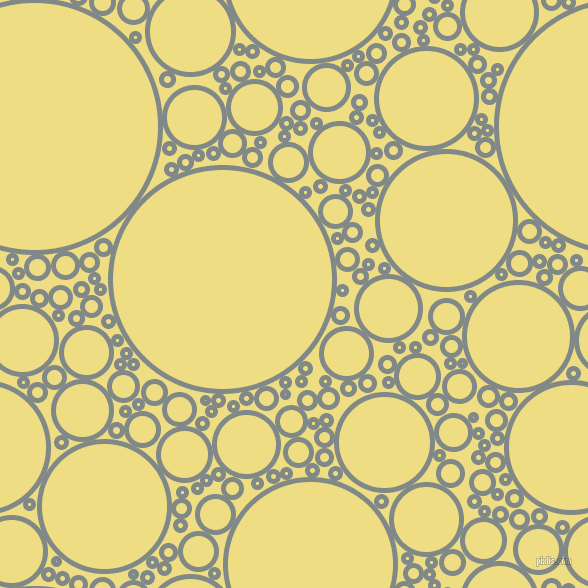 bubbles, circles, sponge, big, medium, small, 5 pixel line width, Oslo Grey and Light Goldenrod circles bubbles sponge soap seamless tileable
