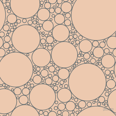 bubbles, circles, sponge, big, medium, small, 2 pixel line width, Pale Sky and Desert Sand circles bubbles sponge soap seamless tileable