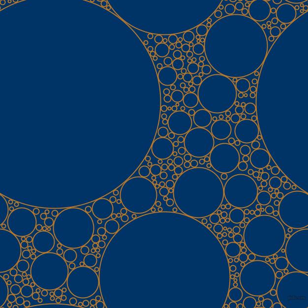 Golden Dream and Cadet Blue circles bubbles sponge soap