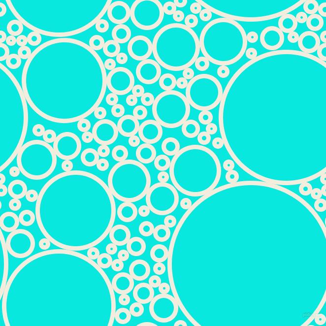 Quarter Pearl Lusta And Bright Turquoise Circles Bubbles Sponge