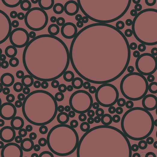 bubbles, circles, sponge, big, medium, small, 9 pixel line width, Racing Green and Rose Taupe circles bubbles sponge soap seamless tileable