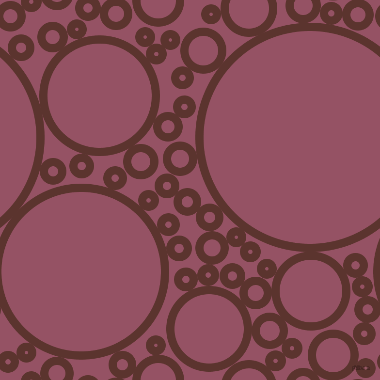 bubbles, circles, sponge, big, medium, small, 17 pixel line width, Redwood and Vin Rouge circles bubbles sponge soap seamless tileable