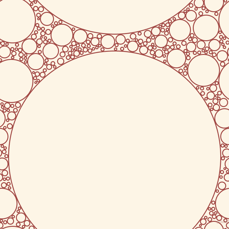 bubbles, circles, sponge, big, medium, small, 3 pixel line width, Roof Terracotta and Old Lace circles bubbles sponge soap seamless tileable