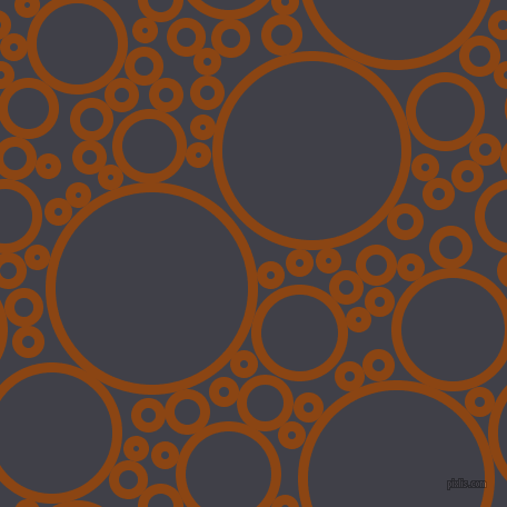 bubbles, circles, sponge, big, medium, small, 9 pixel line width, Saddle Brown and Payne
