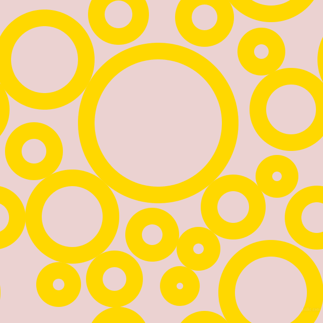 bubbles, circles, sponge, big, medium, small, 33 pixel line width, School Bus Yellow and Vanilla Ice circles bubbles sponge soap seamless tileable