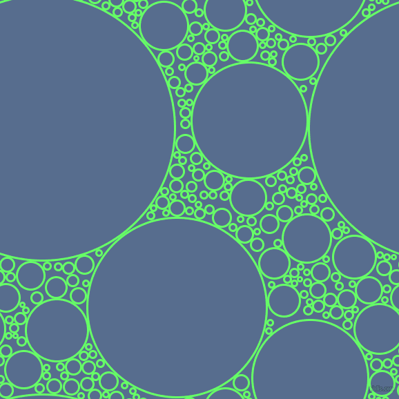 bubbles, circles, sponge, big, medium, small, 3 pixel line widthScreamin' Green and Kashmir Blue circles bubbles sponge soap seamless tileable