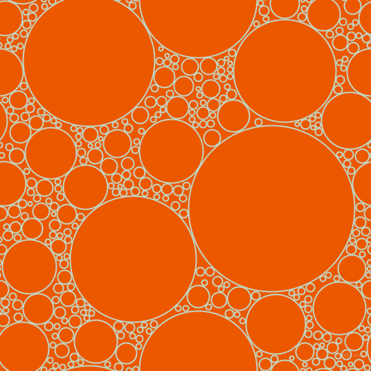 bubbles, circles, sponge, big, medium, small, 2 pixel line width, Sea Mist and Persimmon circles bubbles sponge soap seamless tileable