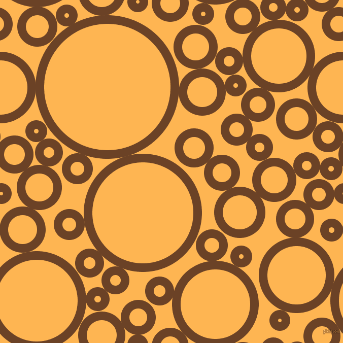bubbles, circles, sponge, big, medium, small, 17 pixel line width, Semi-Sweet Chocolate and Koromiko circles bubbles sponge soap seamless tileable