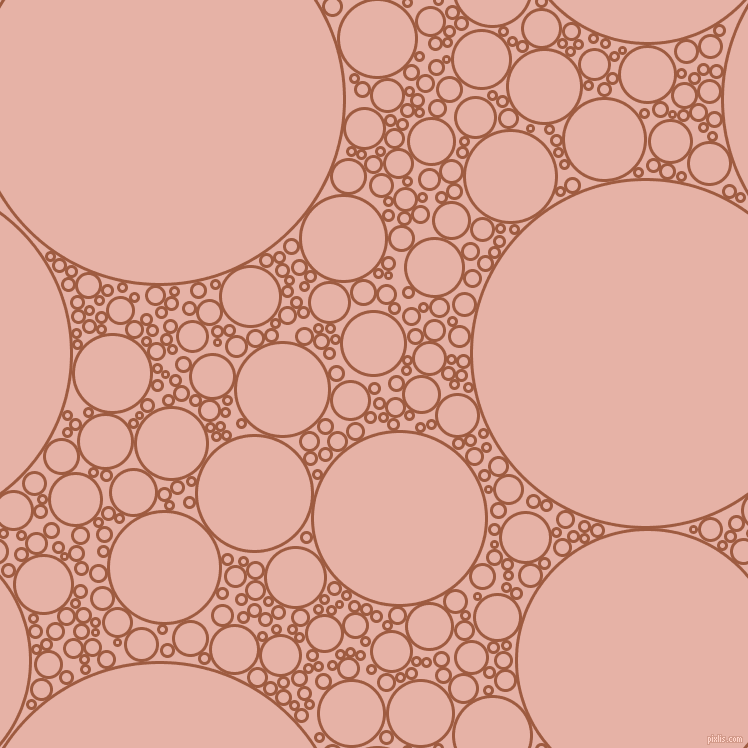 bubbles, circles, sponge, big, medium, small, 3 pixel line width, Sepia and Shilo circles bubbles sponge soap seamless tileable