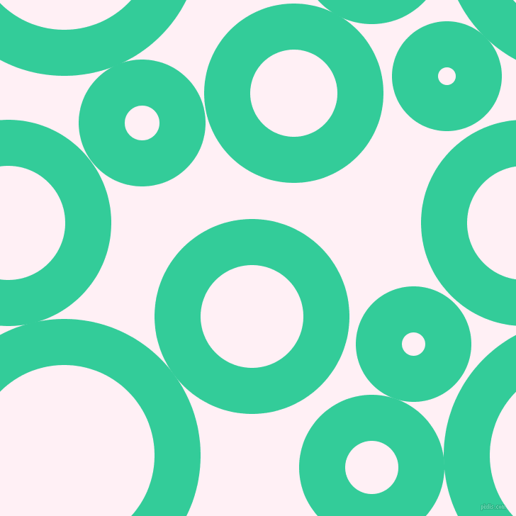 bubbles, circles, sponge, big, medium, small, 65 pixel line width, Shamrock and Lavender Blush circles bubbles sponge soap seamless tileable
