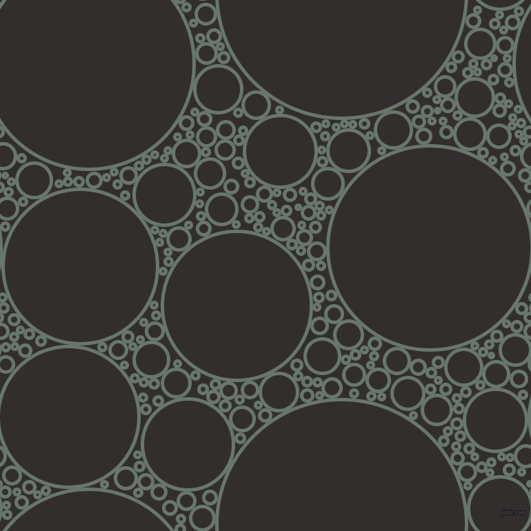 bubbles, circles, sponge, big, medium, small, 5 pixel line width, Sirocco and Night Rider circles bubbles sponge soap seamless tileable