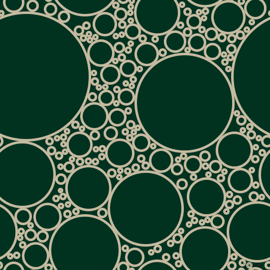 bubbles, circles, sponge, big, medium, small, 5 pixel line width, Sisal and Dark Green circles bubbles sponge soap seamless tileable