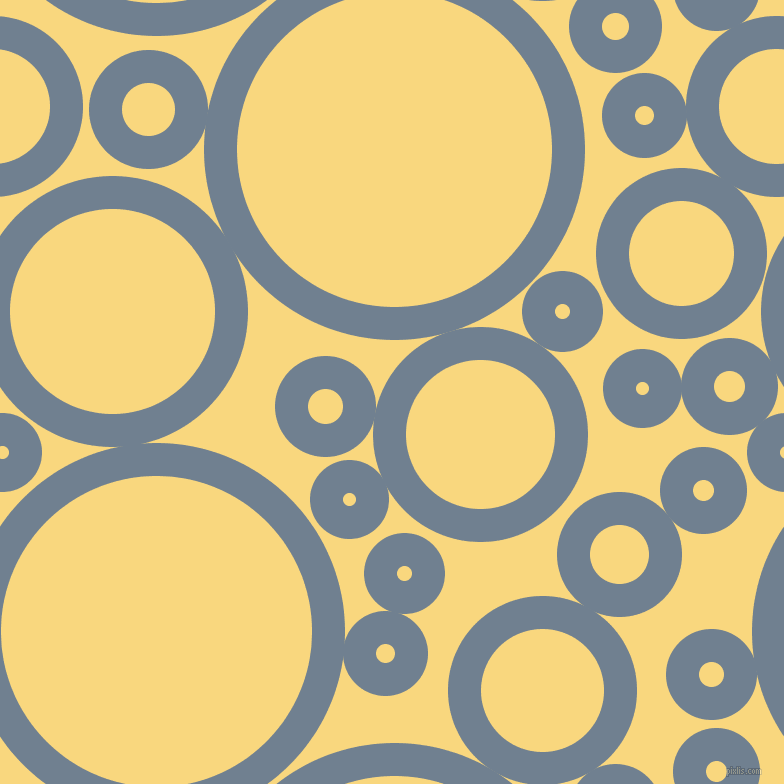 bubbles, circles, sponge, big, medium, small, 33 pixel line width, Slate Grey and Golden Glow circles bubbles sponge soap seamless tileable
