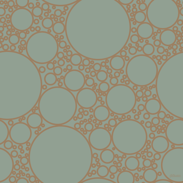bubbles, circles, sponge, big, medium, small, 5 pixel line width, Sorrell Brown and Pewter circles bubbles sponge soap seamless tileable